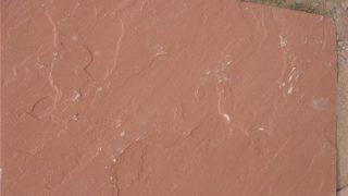 インド砂岩レッド インドの赤い砂岩割り肌のご紹介