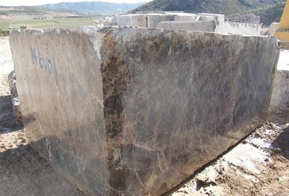 marron-imperial-marron-emperador-dark-marble-quarry-block-4427b