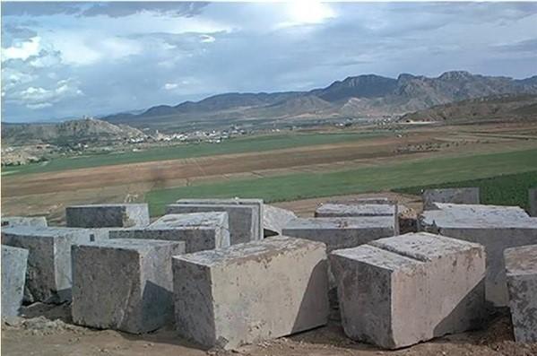 noble-marron-imperial-marble-dark-emperador-quarry-block-222b