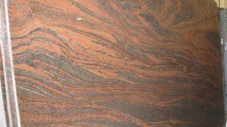 マルチカラーレッド インド産流れる赤い御影石のご紹介