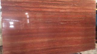 赤い巣穴の大理石レッドトラバーチンのご紹介